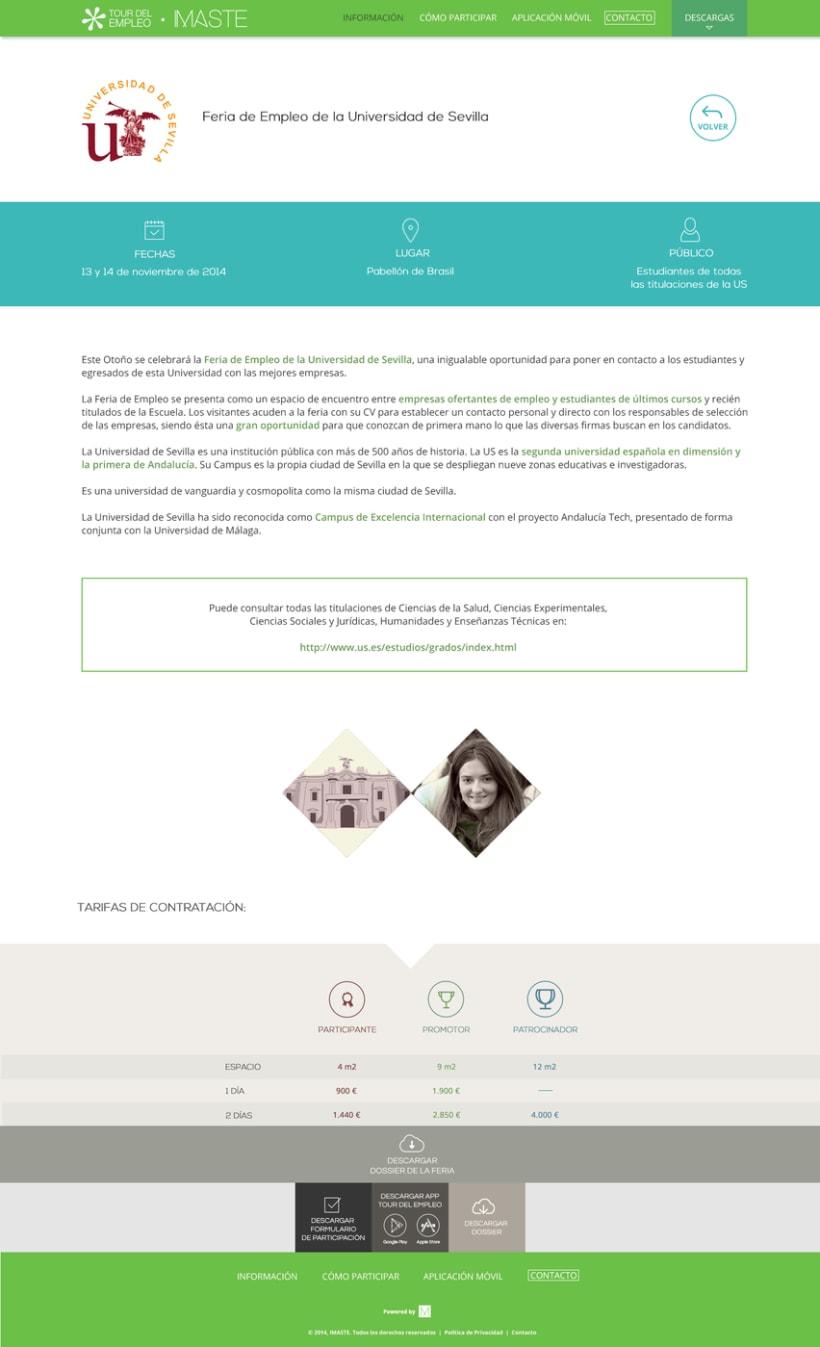 Web design & development for job fair sites 8