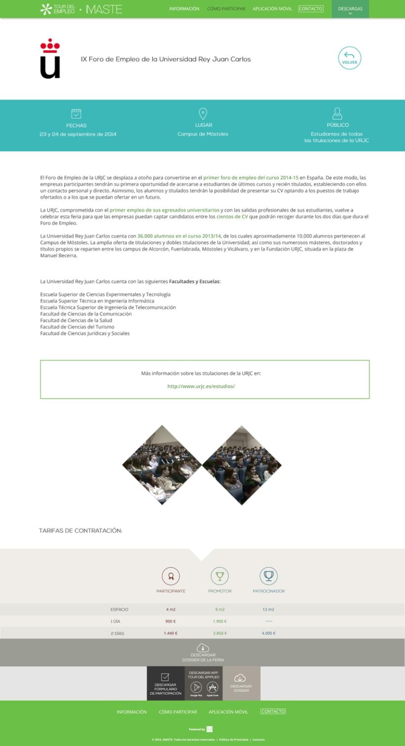 Web design & development for job fair sites 9