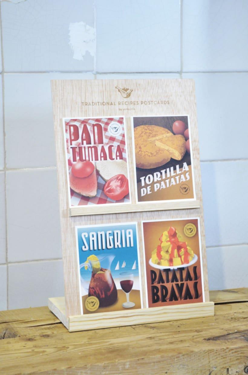 Traditional recipes postcards 4