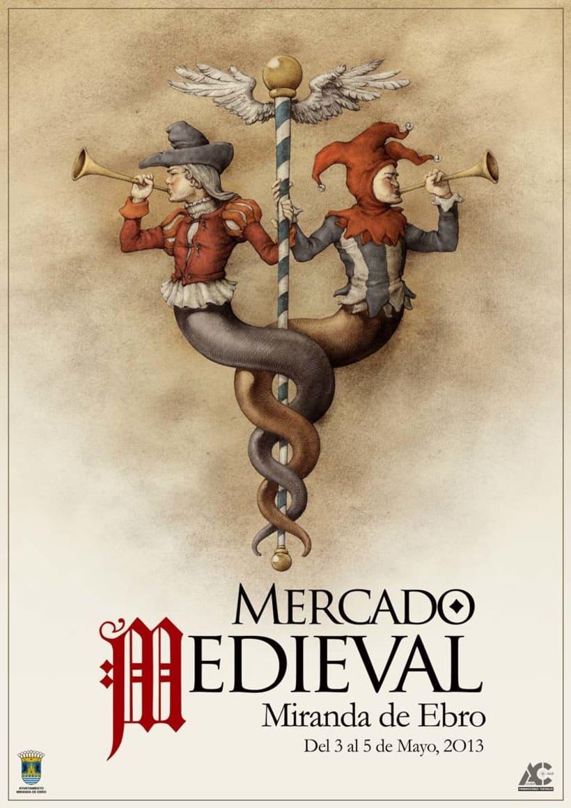 Carteles de Teatro y Mercado Medieval 1