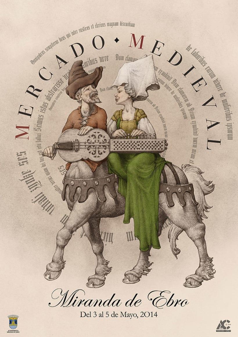 Carteles de Teatro y Mercado Medieval 2