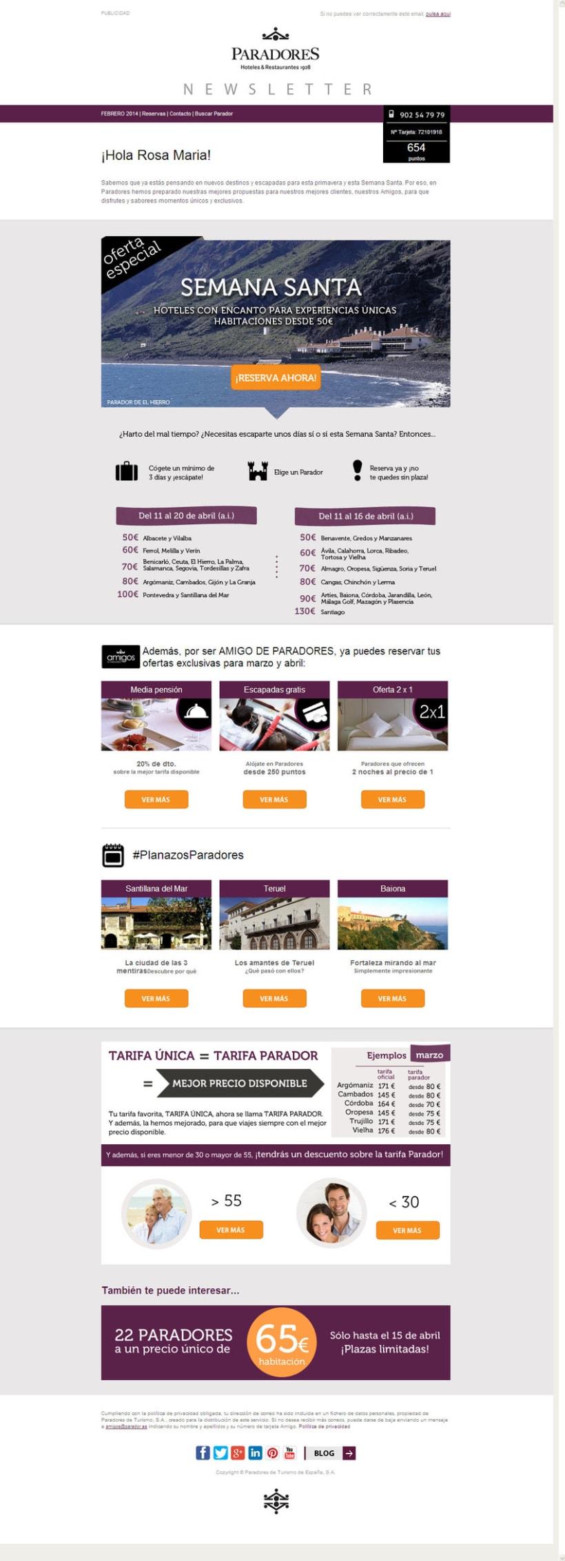 Newsletter a cliente fidelizado - Diseño y maquetación HTML -1