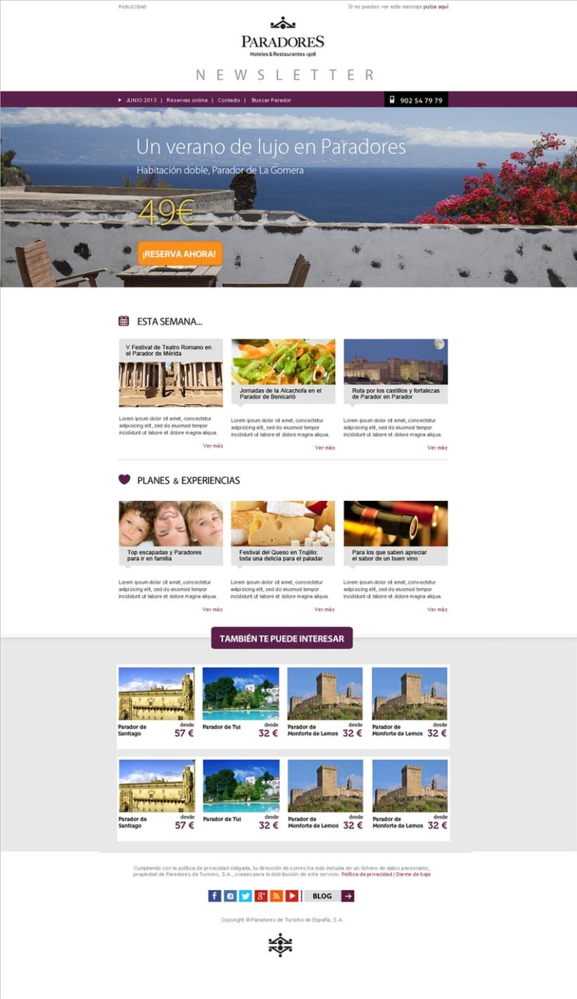 Newsletters Paradores. Diseño y maquetación HTML 3