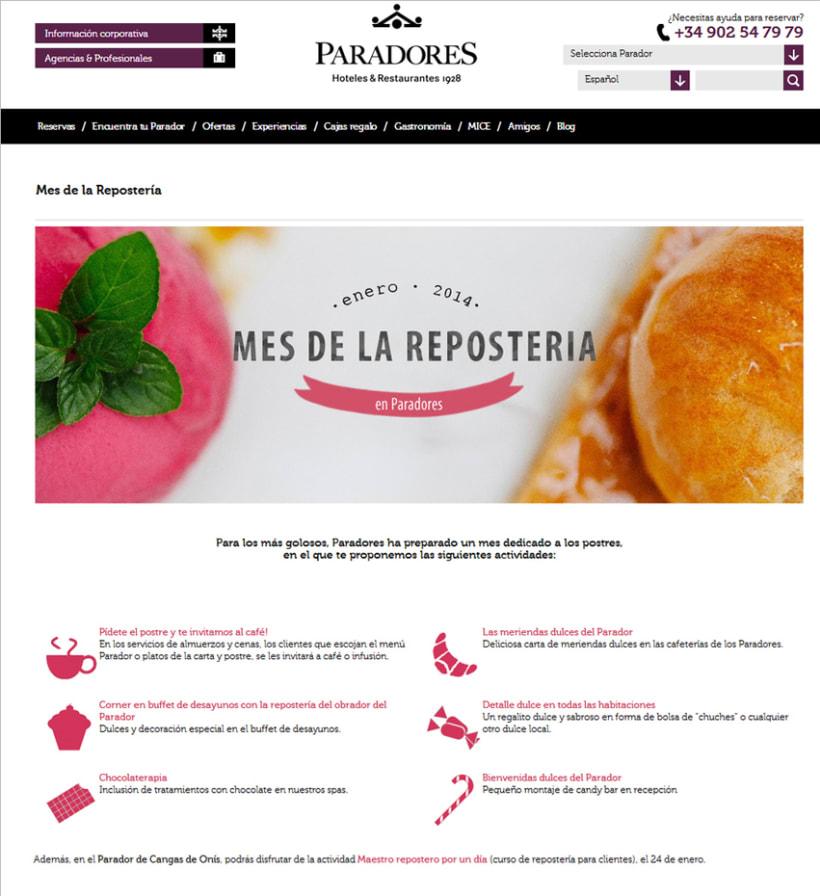 Landing page Repostería en www.parador.es -1