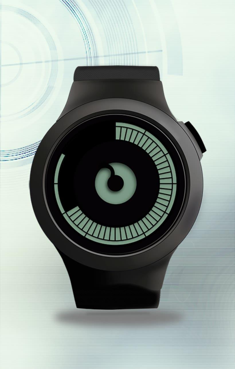 Ilustración vectorial: reloj 0