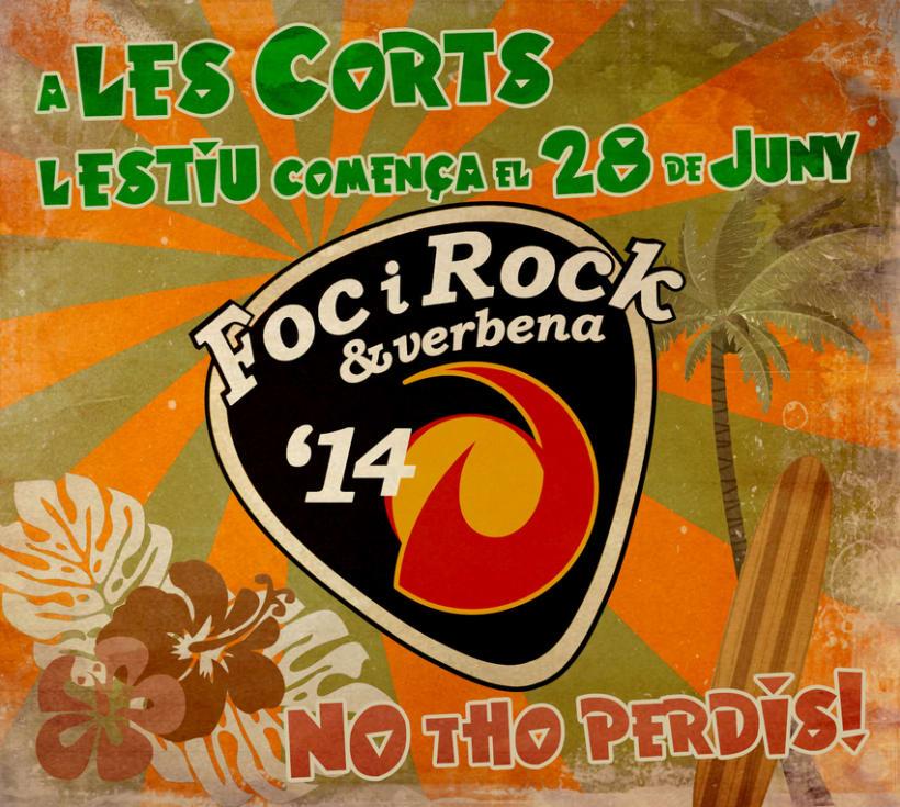 Campaña de promoción del evento: FocyRock'14. Diseño de logo, cartelería, montage de videos y redes sociales 0