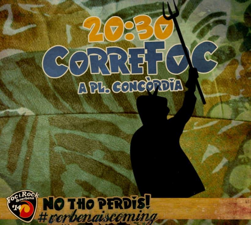 Campaña de promoción del evento: FocyRock'14. Diseño de logo, cartelería, montage de videos y redes sociales 10