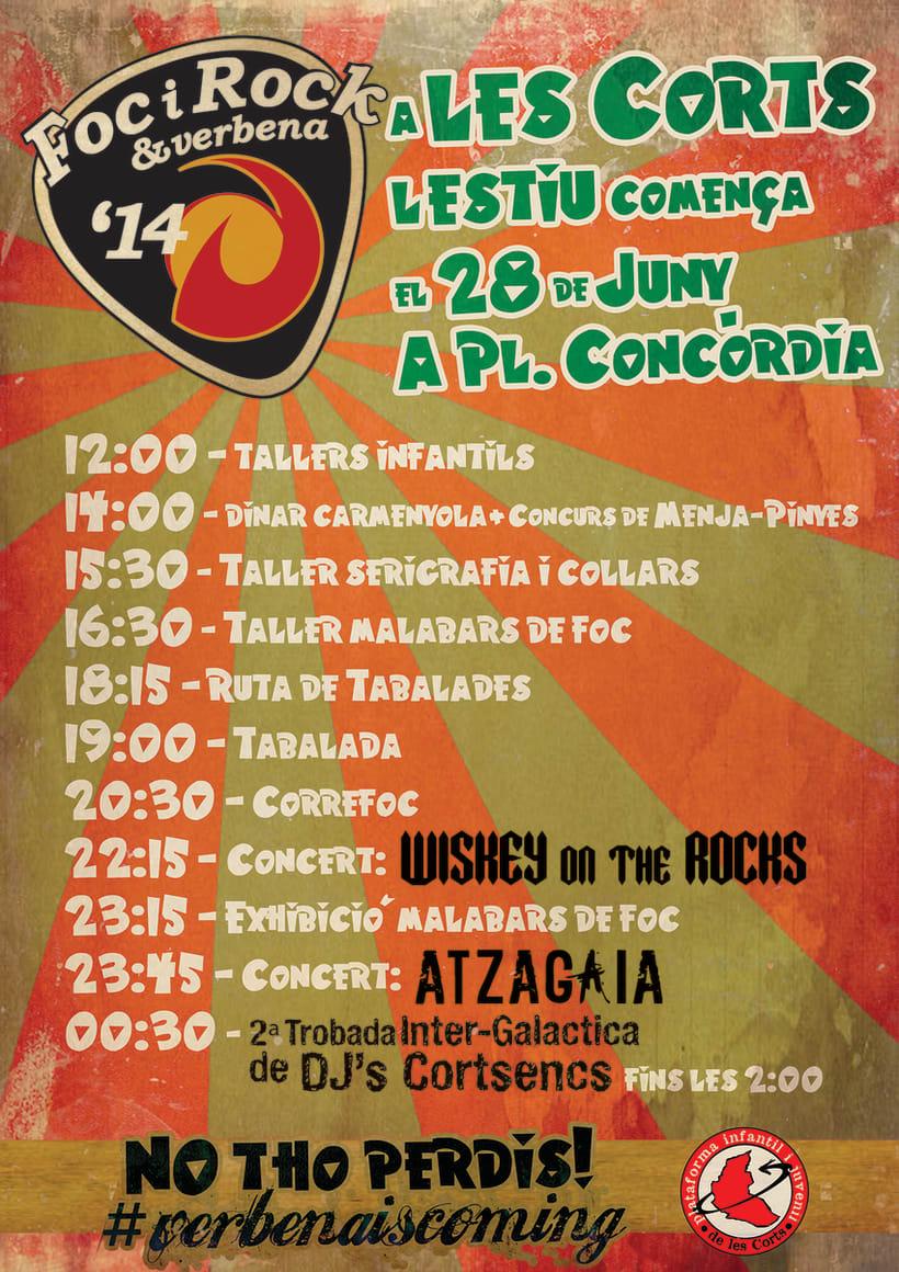 Campaña de promoción del evento: FocyRock'14. Diseño de logo, cartelería, montage de videos y redes sociales 4