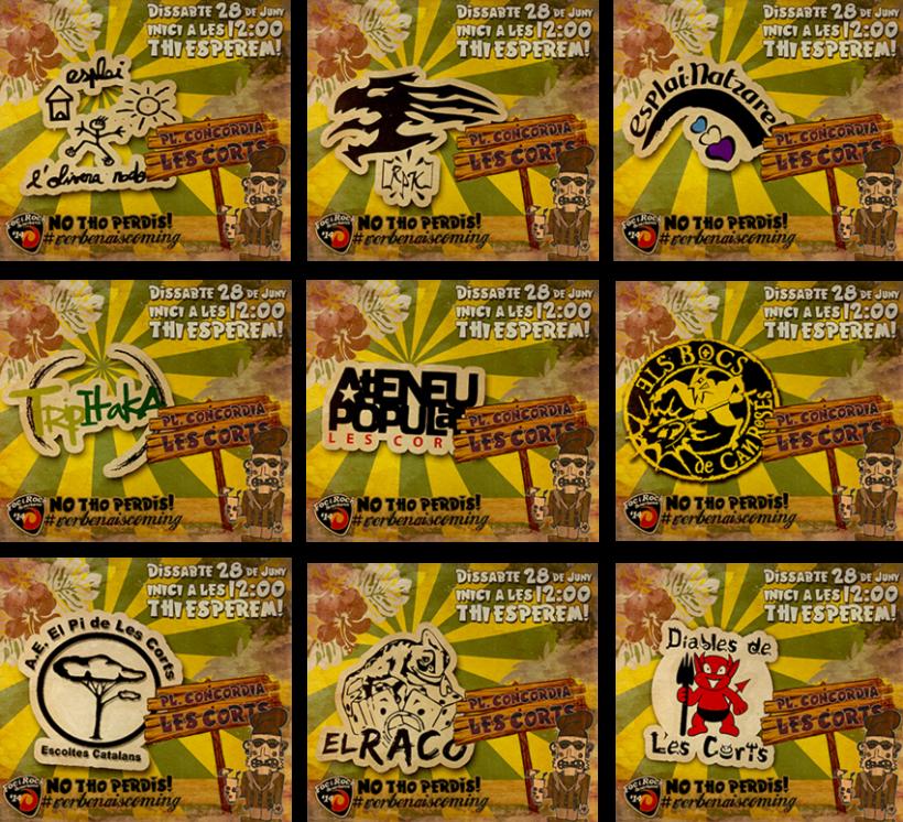 Campaña de promoción del evento: FocyRock'14. Diseño de logo, cartelería, montage de videos y redes sociales 7