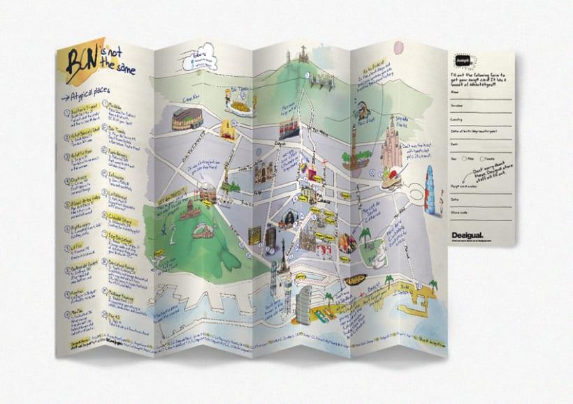 Desigual Barcelona pocket map 4