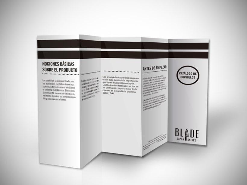 Packaging y folleto de Blade 1