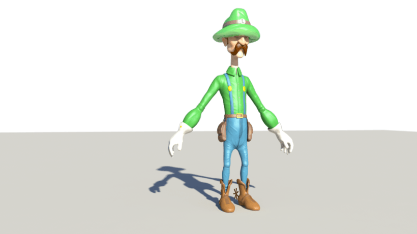 Luigi character Modeling and Texturing 3D in Autodesk Maya  4