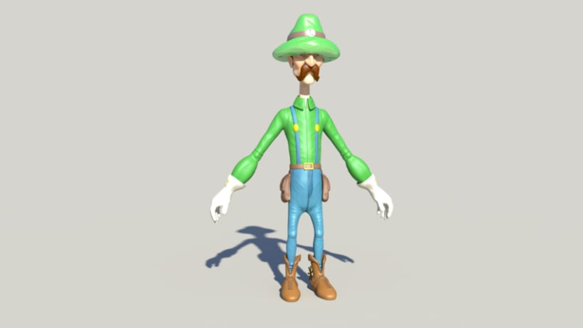 Luigi character Modeling and Texturing 3D in Autodesk Maya  3