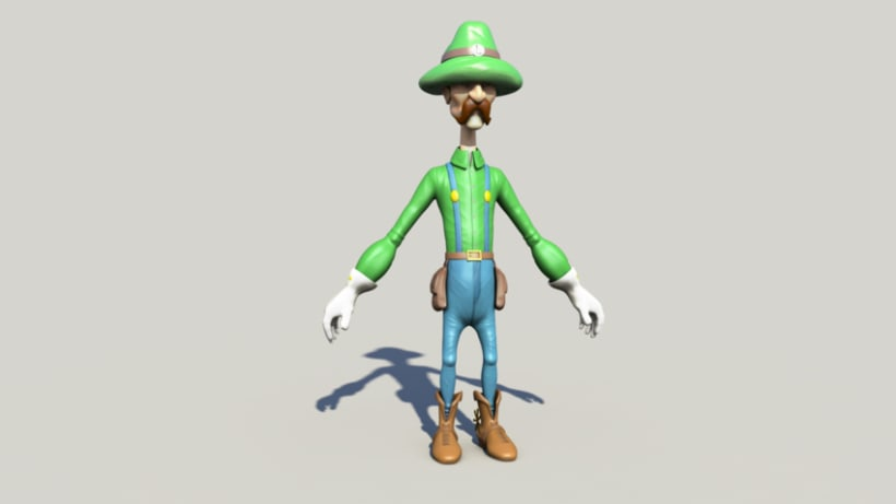 Luigi character Modeling and Texturing 3D in Autodesk Maya  1