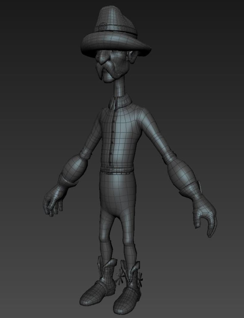 Luigi character Modeling and Texturing 3D in Autodesk Maya  7