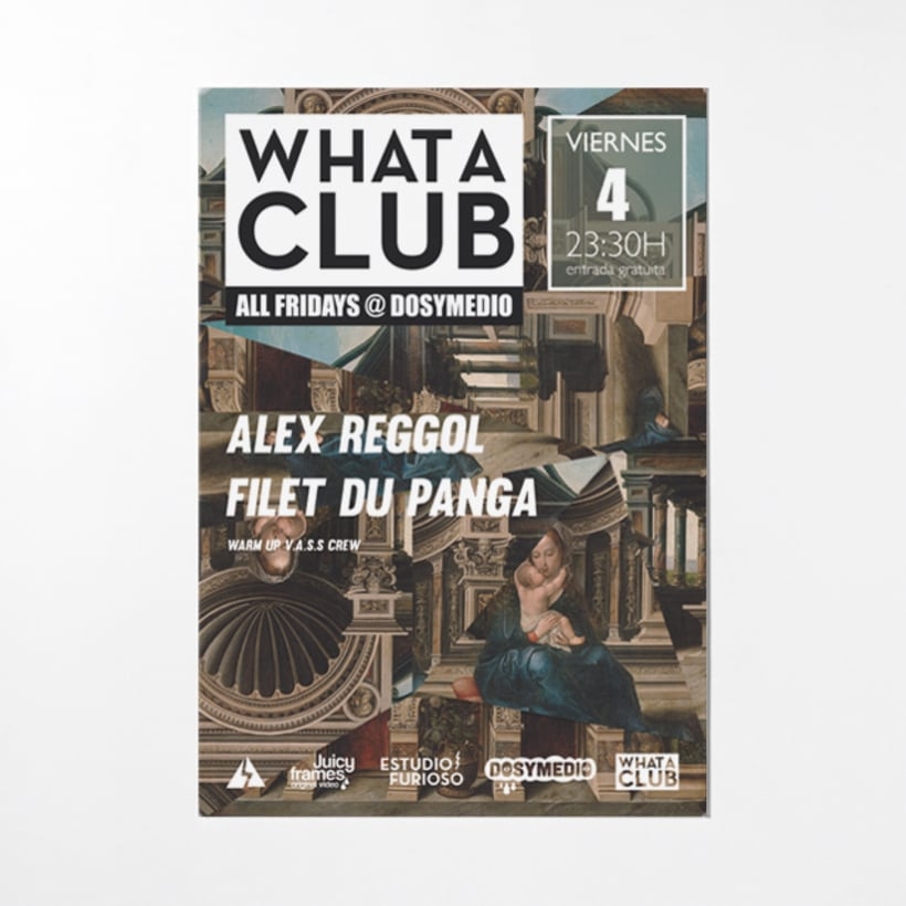 Cartelería semanal para What A Club 2