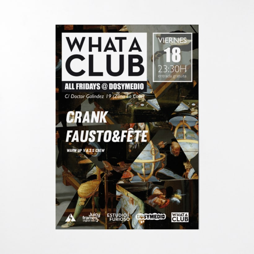 Cartelería semanal para What A Club 4