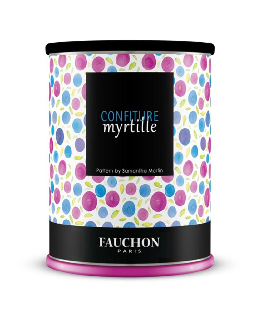 Papel / Packaging para mermelada de arándanos Fauchon Paris 9