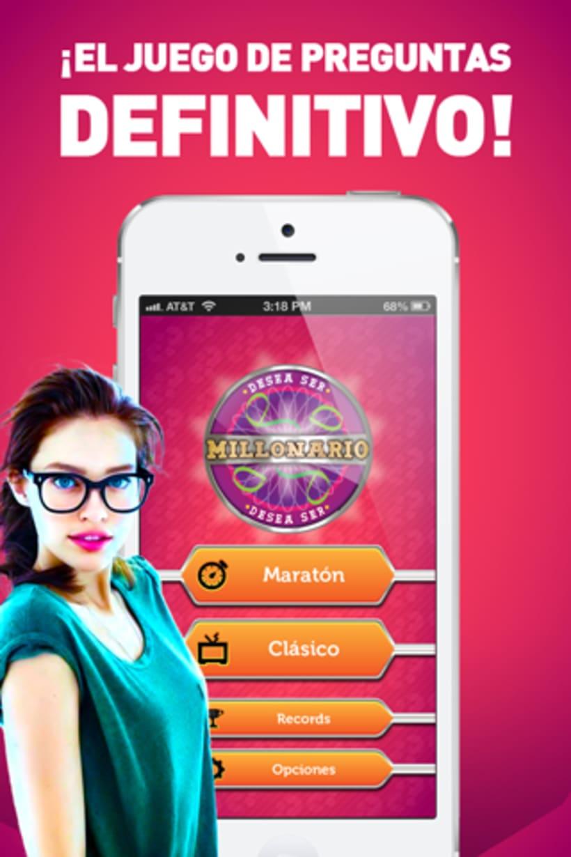 App Millonario para iOs y Android 1