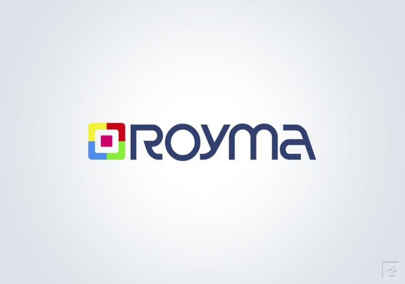 """Identidad corporativa """"ROYMA informática"""" 1"""