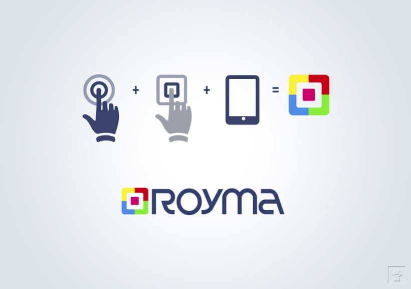 """Identidad corporativa """"ROYMA informática"""" 2"""