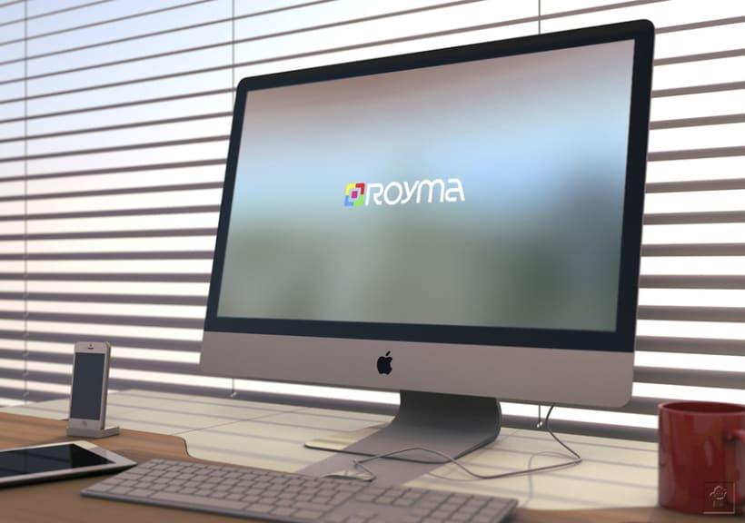 """Identidad corporativa """"ROYMA informática"""" 11"""