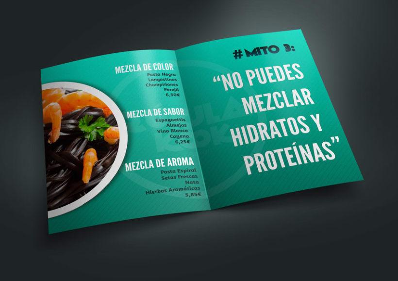Identidad Corporativa y Menú para Restaurante Rúkula Kook 3