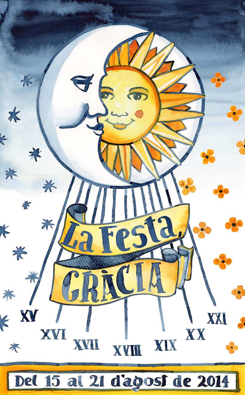 Cartel Oficial Fiestas de Gracia 2014 · acuarela poster -1