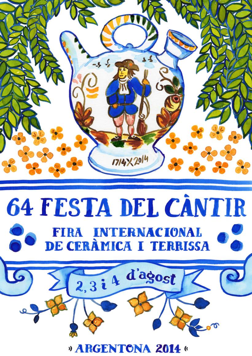 Cartel Oficial de la Feria del Botijo de Argentona · acuarela poster -1