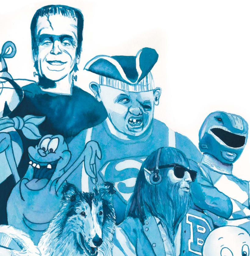 Oda a mis héroes de los 80 - Delft blauw - Acuarela 4