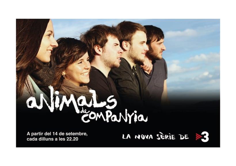 ANIMALS DE COMPANYIA, gràfica per a una sèrie de televisió 1