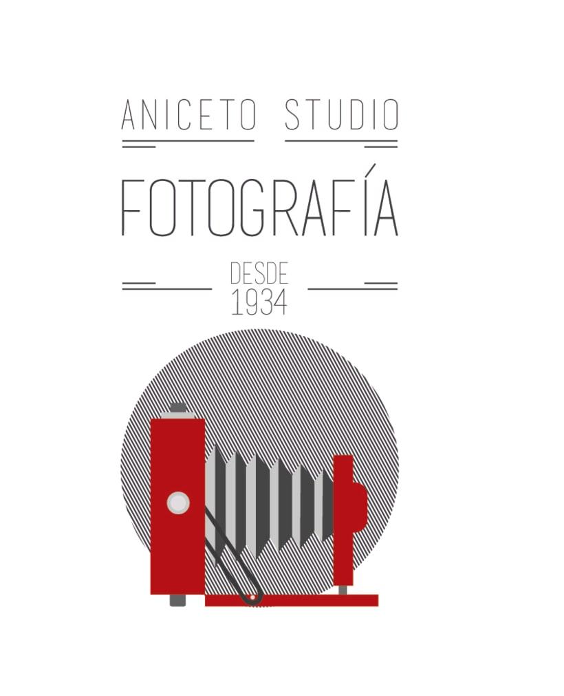 Porpuesta de logo y sus versiones para Aniceto Studio 3