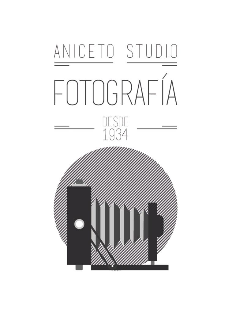 Porpuesta de logo y sus versiones para Aniceto Studio 4