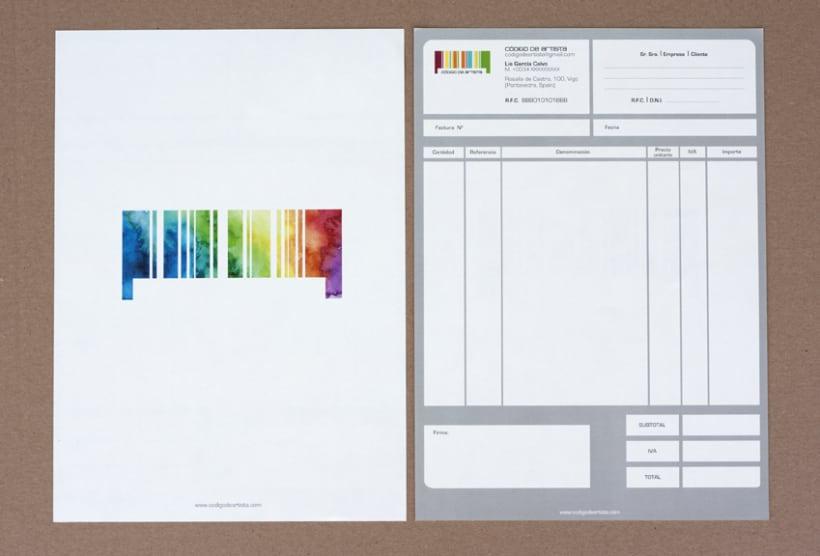 CÓDIGO DE ARTISTA, corporate stationery ( part II ) 5