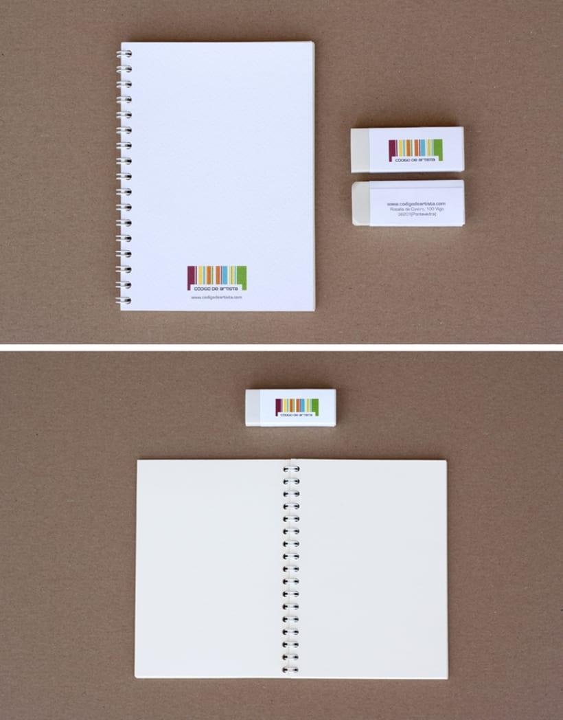 CÓDIGO DE ARTISTA, corporate stationery ( part II ) 7
