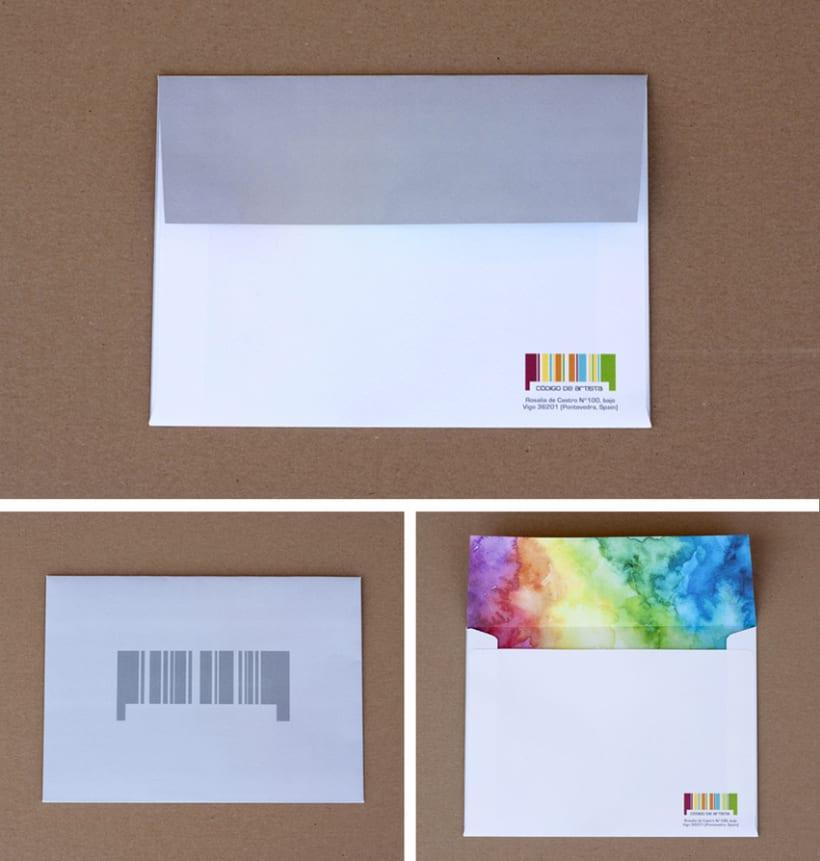 CÓDIGO DE ARTISTA, corporate stationery ( part II ) 3