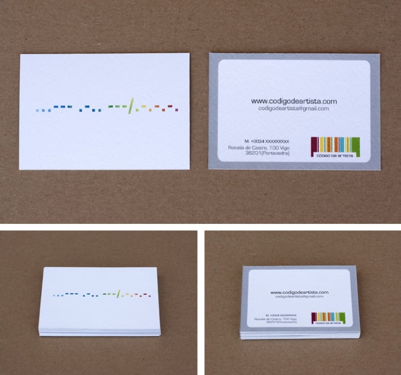 CÓDIGO DE ARTISTA, corporate stationery ( part II ) 2