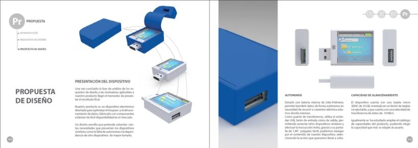 """Dispositivo de Almacenamiento y Traspaso de datos """"D-TRANSFER"""" 0"""