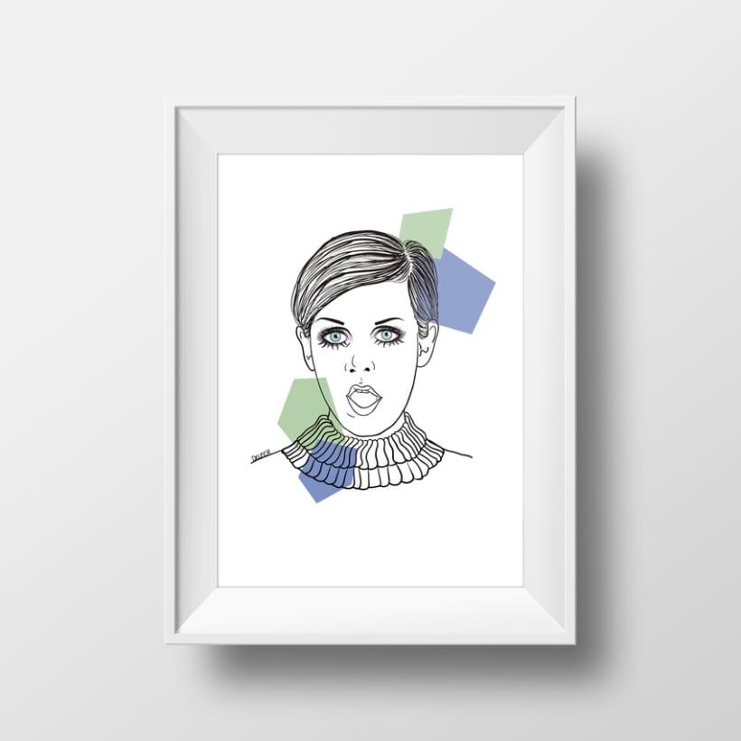 Ilustración. Twiggy. 1