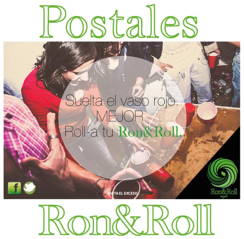Campaña Ron&Roll (mojito) Postales 0