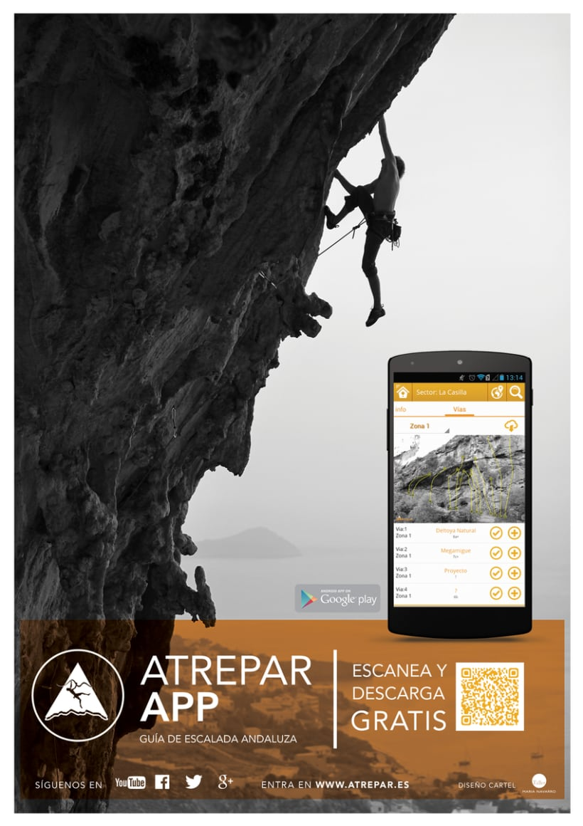 Poster 'Atrepar App' 1