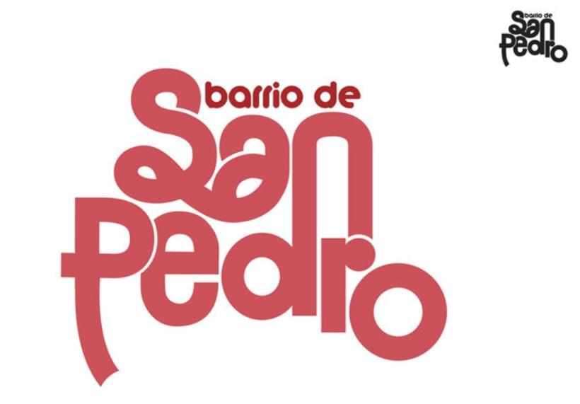 Logo y aplicaciones Barrio de San Pedro -1