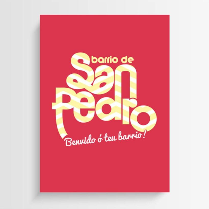 Logo y aplicaciones Barrio de San Pedro 0
