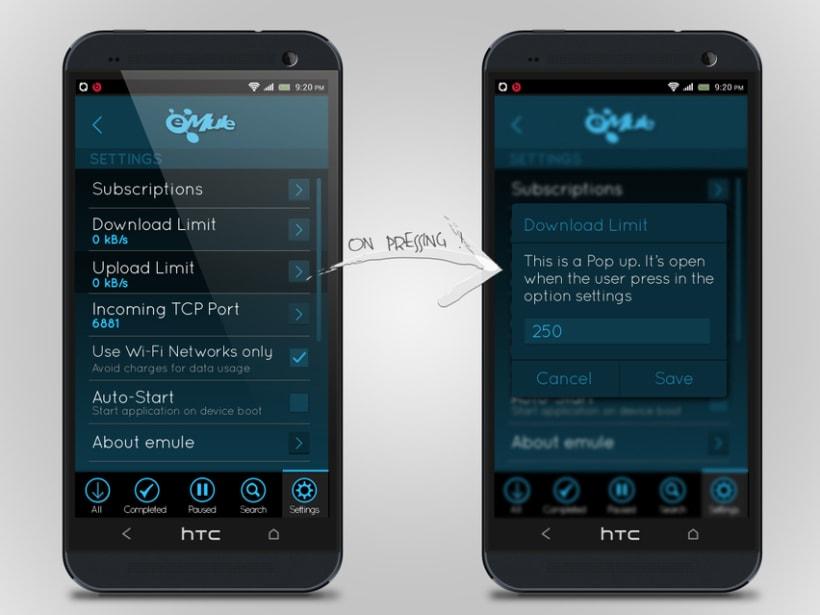 eMule App Design - Sketch 2