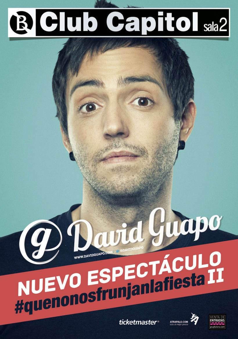 Cartel espectáculo David Guapo -1