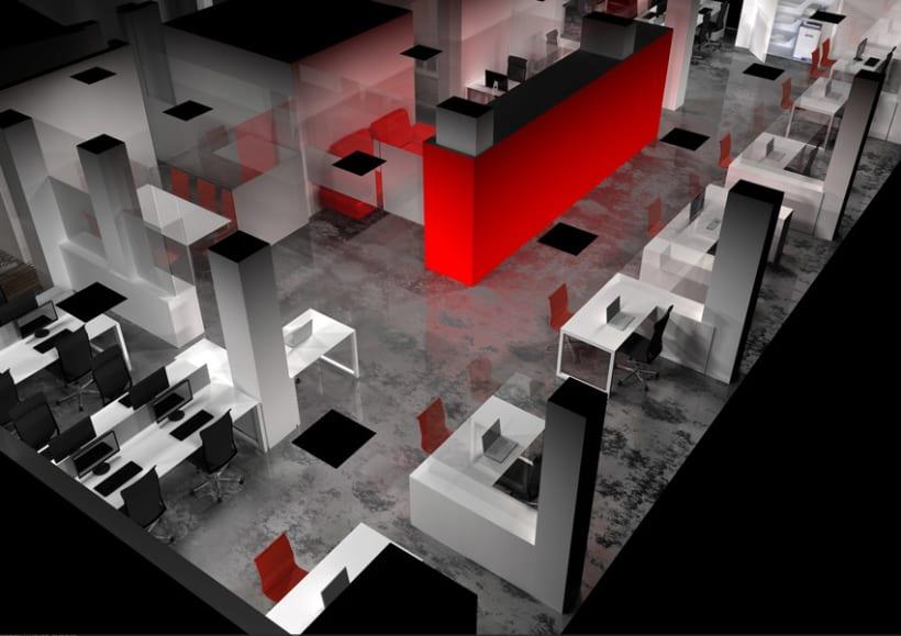 Infografía 3D Oficina -1