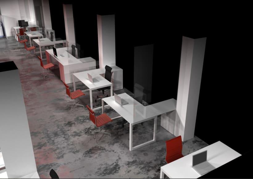 Infografía 3D Oficina 0