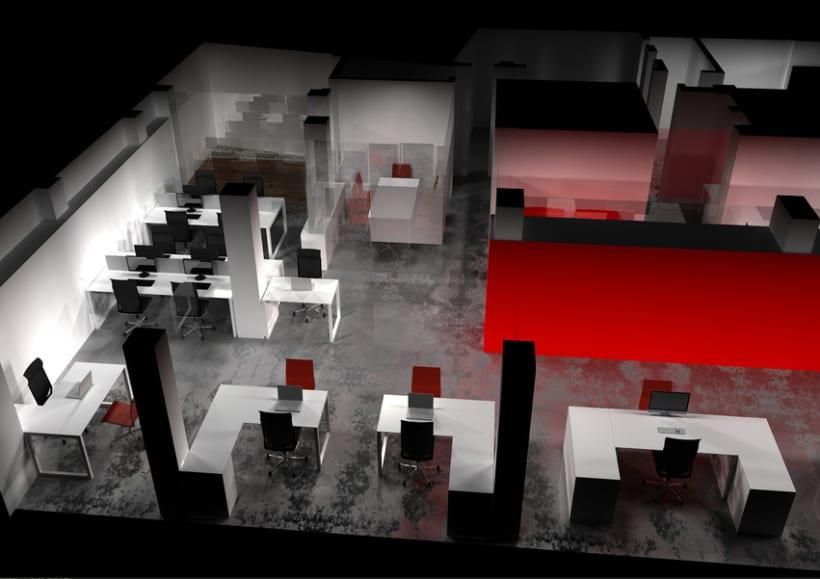 Infografía 3D Oficina 1