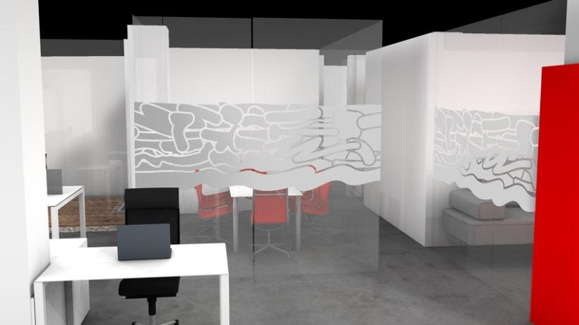 Infografía 3D Oficina 3