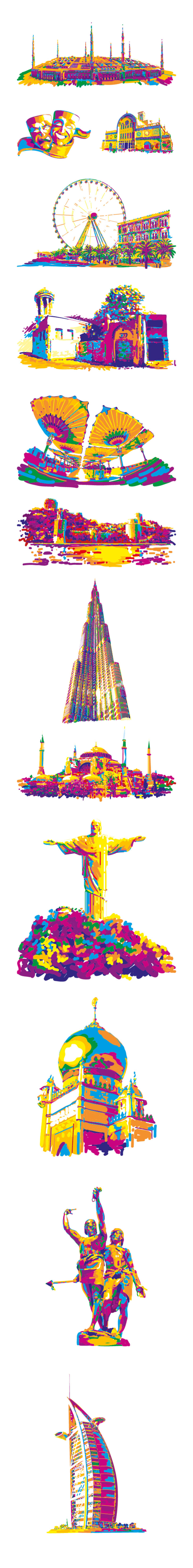 Ilustraciones para City Sightseeing 0